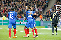 Kingsley Coman (Bayern Munich) (FRA), Dimitri Payet (West Ham FC) (FRA), Yuri Lodygin (Zenit Saint Petersburg) (RUS), N Golo Kante (Leicester City) (FRA) during the International Friendly Game 2016 football (soccer) match between France and Russia on March 29, 2016 at Stade de France in Saint Denis, France - Photo Stephane Allaman / DPPI
