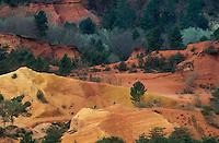 France. Provence. Vaucluse. Roussillon. Colorado de Rustrel // France. Provence. Vaucluse. Landscape near Roussillon. Colorado de Rustrel