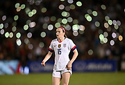 United States midfielder Rose Lavelle (16) in an international friendly women's soccer match, Saturday, Aug. 3, 2019,  in Pasadena, Calif., The U.S. defeated Ireland 3-0. (Dylan Stewart/Image of Sport)