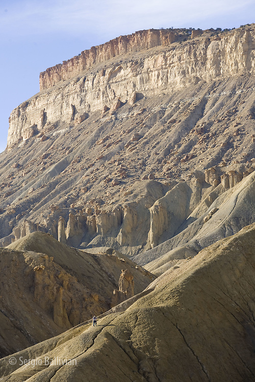 Details of Grand Mesa and eroded ridges near Grand Junction, Colorado.
