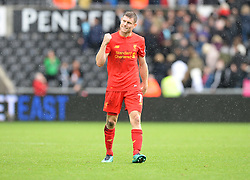 James Milner of Liverpool celebrates at full time. - Mandatory by-line: Alex James/JMP - 01/10/2016 - FOOTBALL - Liberty Stadium - Swansea, England - Swansea City v Liverpool - Premier League