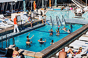 Water volleyball on a cruise ship pool, Crystal Serenity