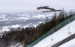 15.03.2019, Vikersundbakken, Vikersund, NOR, FIS Weltcup Skisprung, Raw Air, Vikersund, Qualifikation, Herren, im Bild Karl Geiger (GER) // Karl Geiger of Germany during the men's qualifying of the 4th Stage of the Raw Air Series of FIS Ski Jumping World Cup at the Vikersundbakken in Vikersund, Norway on 2019/03/15. EXPA Pictures © 2019, PhotoCredit: EXPA/ JFK