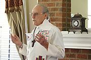 Father David Knight in prayer.