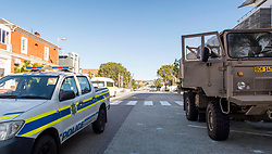 South Africa - Plettenberg Bay - 23 April 2020 - A  SAMIL 20 light utility truck is seen in Main Street in Plettenberg Bay. 73,000 more soldiers are set to be employed onto SA's streets, at a cost of R4.59bn, to help manage the nationwide lockdown. South Africa is currently under lockdown in an attempt to flatten the curve to halt the spread of the COVID-19 coronavirus pandemic. Picture: David Ritchie/African News Agency(ANA)