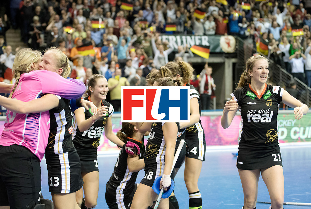 BERLIN - Indoor Hockey World Cup<br /> Final: Netherlands - Germany<br /> foto: Germany wins the Final with 2-1 <br />  <br /> WORLDSPORTPICS COPYRIGHT FRANK UIJLENBROEK