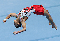 Kenzo Shirai of Japan competes on the Floor exercise during the Apparatus finals at the Artistic Gymnastics World Championships in Antwerp, Belgium, 05 October 2013.