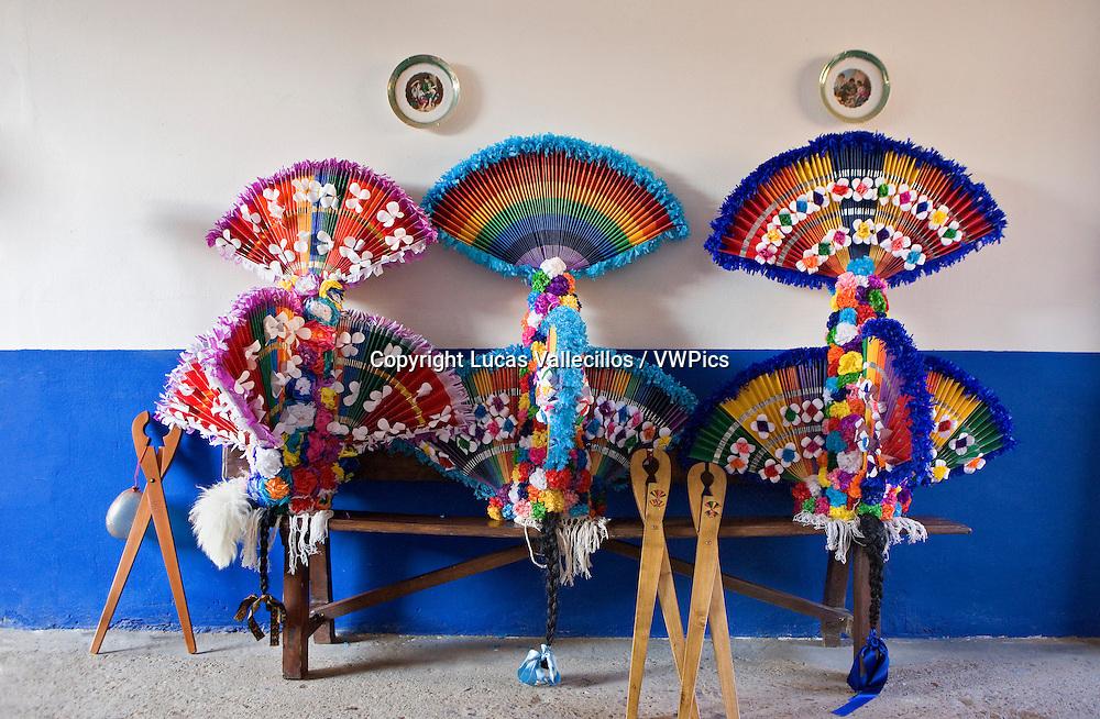 Antruejo (Carnival).Masks of guirrios. Llamas de la Ribera. León. Castilla y León. Spain