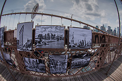 Artwork on the Brooklyn Bridge, New York, US