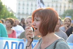 May 30, 2017 - Athens, Greece - Demonstration in Athens of municipal employees against further austerity measures. (Credit Image: © George Panagakis/Pacific Press via ZUMA Wire)
