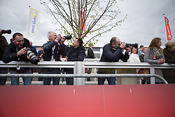 Spectators wait for the finish of the Amstel Gold Race Ladies Edition - a 121.6 km road race, between  Maastricht and Valkenburg on April 16, 2017, in Limburg, Netherlands.
