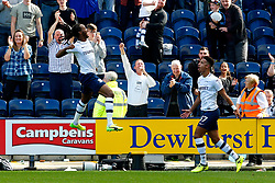 Daniel Johnson of Preston North End celebrates after scoring his sides first goal  - Mandatory by-line: Matt McNulty/JMP - 05/08/2017 - FOOTBALL - Deepdale - Preston, England - Preston North End v Sheffield Wednesday - Sky Bet Championship