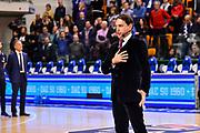 Francesco Demuro Tenore Inno d'Italia<br /> Banco di Sardegna Dinamo Sassari - Pompea Fortitudo Bologna<br /> LBA Serie A Postemobile 2018-2019<br /> Sassari, 15/12/2019<br /> Foto L.Canu / Ciamillo-Castoria