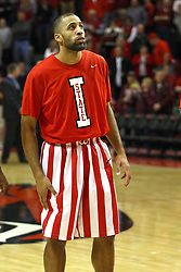 02 February 2013:  Jackie Carmichael dressed in retro uniforms during an NCAA Missouri Valley Conference mens basketball game where the Salukis of Southern Illinois lost to the Illinois State Redbirds for Retro-Night 83-47 in Redbird Arena, Normal IL