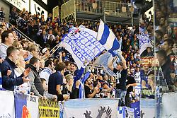 02.11.2014, Saturn Arena, Ingolstadt, GER, DEL, ERC Ingolstadt vs Thomas Sabo Ice Tigers, 16. Runde, im Bild Ingolstaedter Fans freuen sich mit ihrer Mannschaft // during Germans DEL Icehockey League 16th round match between ERC Ingolstadt and Thomas Sabo Ice Tigers at the Saturn Arena in Ingolstadt, Germany on 2014/11/02. EXPA Pictures © 2014, PhotoCredit: EXPA/ Eibner-Pressefoto/ Strisch<br /> <br /> *****ATTENTION - OUT of GER*****