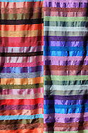 Striped coloured moroccan fabric.