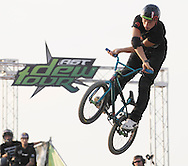 Anthony Napolitan competes at the AST Dew Tour Right Guard Open BMX Dirt Finals Friday, July 18, 2008 in Cleveland, OH.