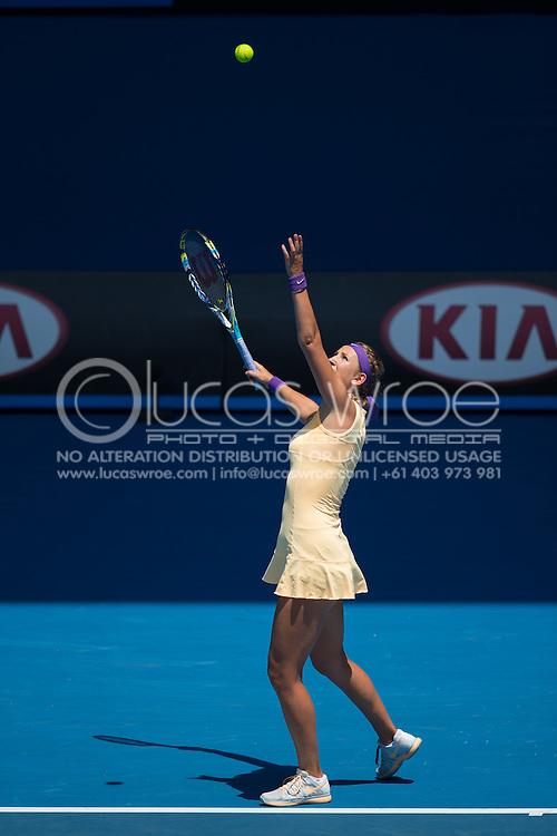 Victoria Azarenka (BLR). Day 8. Round 4. Melbourne Olympic Park, Melbourne, Victoria, Australia. 21/01/2013. Photo By Lucas Wroe