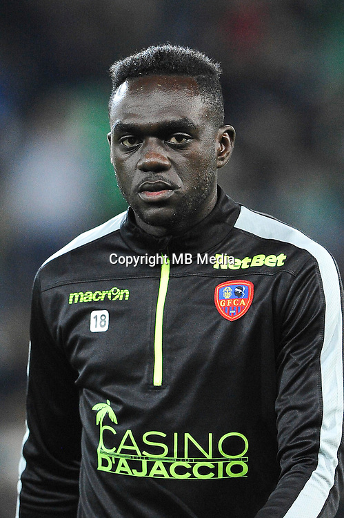Amos YOUGA - 17.10.2015 - Saint Etienne / Gazelec Ajaccio - 10eme journee de Ligue1<br />