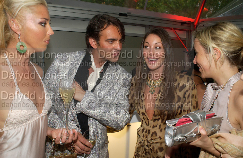 Tamara Beckwith, Martin Laurence-Bollard and Tamara Mellon. Glamour Women Of The Year Awards 2005, Berkeley Square, London.  June 7 2005. ONE TIME USE ONLY - DO NOT ARCHIVE  © Copyright Photograph by Dafydd Jones 66 Stockwell Park Rd. London SW9 0DA Tel 020 7733 0108 www.dafjones.com