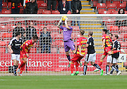 Dundee's Scott Bain clutches a cross - Partick Thistle v Dundee, Ladbrokes Premiership at Firhill<br /> <br />  - &copy; David Young - www.davidyoungphoto.co.uk - email: davidyoungphoto@gmail.com