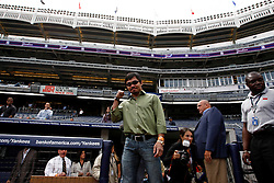 September 10, 2009; Bronx, NY; USA; Manny Pacquiao enters the press conference at Yankee Stadium announcing November 14, 2009 fight against Miguel Cotto.  The two will meet at the MGM Grand Garden Arena in Las Vegas, NV.