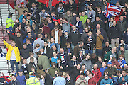 Dundee fans - Hamilton v Dundee, SPFL Championship at <br /> New Douglas Park<br /> <br />  - &copy; David Young - www.davidyoungphoto.co.uk - email: davidyoungphoto@gmail.com