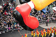 The Ronald McDonald balloon goes down 6th Avenue for the 89th annual Macy's Thanksgiving Day Parade as seen from above street level on Thursday, Nov. 26, 2015, in New York. (Photo by Ben Hider/Invision/AP)