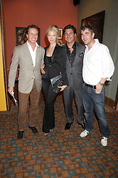 Left to right, TIM ATTIAS, TAMARA BECKWITH, GEORGE VERONI and IVAN MASSOW  at a private view of work by Sacha Newley entitled 'Blessed Curse' in association with the Catto Gallery held at the Arts Club, Dover Street, London W1 on 2nd July 2008.<br />
