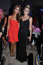 Left to right, SHEEVA MOSHIRI and BO BRUCE at Fashion For The Brave held at The Dorchester Hotel, Park Lane, London on 20th September 2012.