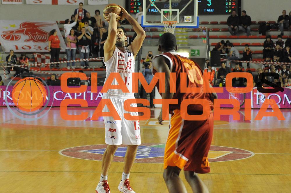 DESCRIZIONE : Roma Lega Basket A 2011-12  Acea Virtus Roma EA7 Emporio Armani Milano<br /> GIOCATORE : Ioannis Bouroussis<br /> CATEGORIA : three points<br /> SQUADRA : EA7 Emporio Armani Milano<br /> EVENTO : Campionato Lega A 2011-2012 <br /> GARA : Acea Virtus Roma EA7 Emporio Armani Milano<br /> DATA : 25/04/2012<br /> SPORT : Pallacanestro  <br /> AUTORE : Agenzia Ciamillo-Castoria/ GiulioCiamillo<br /> Galleria : Lega Basket A 2011-2012  <br /> Fotonotizia : Roma Lega Basket A 2011-12 Acea Virtus Roma EA7 Emporio Armani Milano <br /> Predefinita :