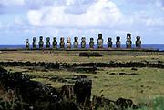 Ahu Tingariki, Easter Island, Rapa Nui, Chile