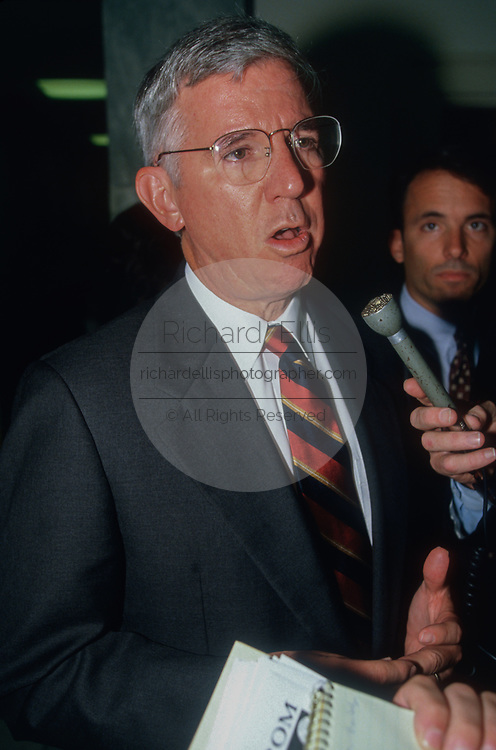 GREENBELT, MD, USA - 1996/03/07: Maryland Governor Parris Glendening speaks to the media following the White House Conference on Youth, Drugs and Violence March 07, 1996 in Greenbelt, Maryland.   (Photo by Richard Ellis)