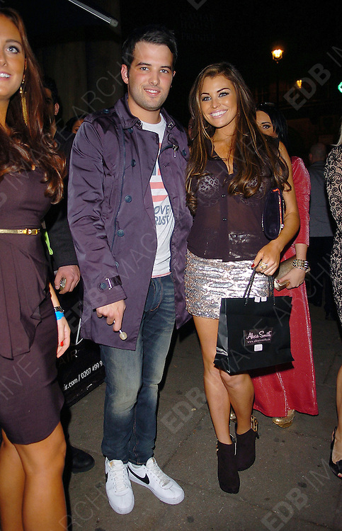 07.NOVEMBER.2012. LONDON<br /> <br /> JESSICA WRIGHT AND RICKY RAYMENT LEAVING AURA NIGHT CLUB AFTER JESSICA'S LINGERIE LAUNCH PARTY.<br /> <br /> BYLINE: EDBIMAGEARCHIVE.CO.UK<br /> <br /> *THIS IMAGE IS STRICTLY FOR UK NEWSPAPERS AND MAGAZINES ONLY*<br /> *FOR WORLD WIDE SALES AND WEB USE PLEASE CONTACT EDBIMAGEARCHIVE - 0208 954 5968*