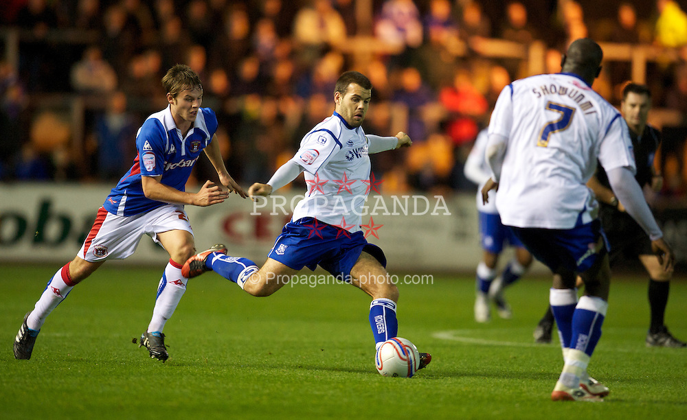 CARLISLE, ENGLAND - Tuesday, November 2, 2010: Tranmere Rovers' captain John Welsh in action against Carlisle United during the Football League One match at Brunton Park. (Pic by: David Rawcliffe/Propaganda)
