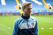 Leeds United midfielder Eunan O'Kane (14) comes off the pitch before the EFL Sky Bet Championship match between Sheffield Wednesday and Leeds United at Hillsborough, Sheffield, England on 1 October 2017. Photo by Simon Davies.