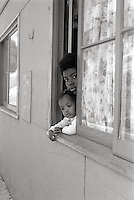 Family in State housing in San Francisco California child1960's