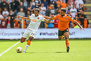 Hull's Ahmed Elmohamady and Wolves Scott Golbourne during the Sky Bet Championship match between Wolverhampton Wanderers and Hull City at Molineux, Wolverhampton, England on 16 August 2015. Photo by Shane Healey.