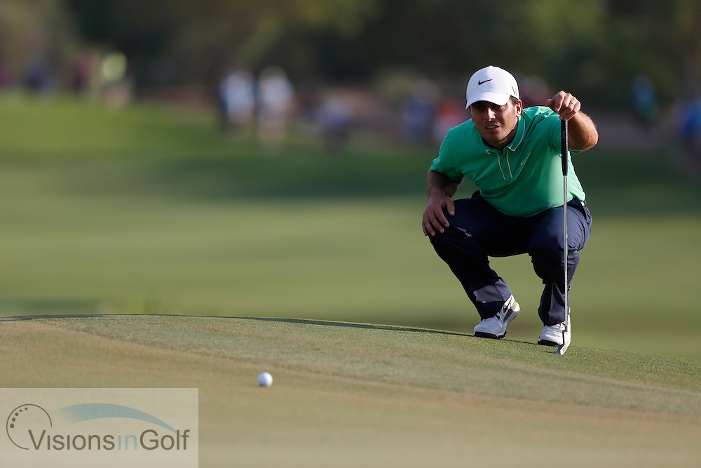 Francesco Molinari<br /> during the third round of the Race To Dubai DP World Tour Golf Championship, Dubai, UAE November  2013<br /> Picture Credit:  Mark Newcombe / www.visionsingolf.com