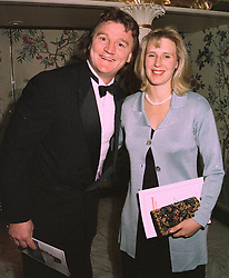 MR & MRS MICKEY SKINNER the former England rugby international, at a dinner in London on 29th October 1997.MCP 11
