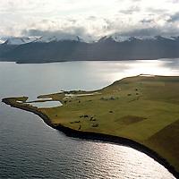 Flatey á Skjálfandi séð til suðurs, Þingeyjarsveit (áður Ljósavatnshreppur , en fyrst Flateyjarhreppur)  / Flatey in Skjalfandi bay, viewing south. Thingeyjarsveit ( fvormer Ljosavatnshreppur and  Flateyjarhreppur).