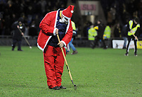 Football - 2019 / 2020 EFL Carabao (League) Cup - Quarter-Final: Oxford United vs. Manchester City<br /> <br /> Santa works on the pitch at half time, at Kassam Stadium<br /> <br /> COLORSPORT/ANDREW COWIE
