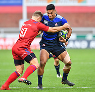 Timothy Lafaele of Japan is tackled by Yury Kushnarev of Russia <br /> <br /> Photographer Craig Thomas<br /> <br /> Japan v Russia<br /> <br /> World Copyright &copy;  2018 Replay images. All rights reserved. 15 Foundry Road, Risca, Newport, NP11 6AL - Tel: +44 (0) 7557115724 - craig@replayimages.co.uk - www.replayimages.co.uk