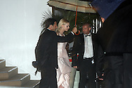 France, Cannes, Baz Luhrmann's 'Great Gatsby' is helps by her bodyguards on her way to the dinner party at the Agora, of the Palace de Cinema, Cannes Film Festival 2013.<br />