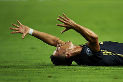 September 19, 2018 - Valencia, Spain - Cristiano Ronaldo of Juventus reacts after get a red card  Group H match of the UEFA Champions League between Valencia CF and Juventus at Mestalla Stadium on September 19, 2018 in Valencia, Spain. (Credit Image: © Jose Breton/NurPhoto/ZUMA Press)