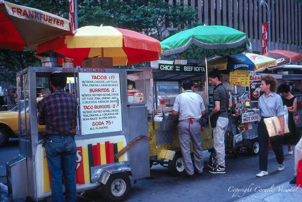 Foodcarts near the Time-Life building