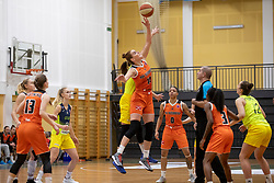 Egle Siksniute of MBK Ruzomberok in action during basketball match between ZKK Cinkarna Celje (SLO) and MBK Ruzomberok (SVK) in Round #6 of Women EuroCup 2018/19, on December 13, 2018 in Gimnazija Celje Center, Celje, Slovenia. Photo by Urban Urbanc / Sportida