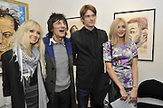 NICOLA SARGEANT;; RONNIE WOOD; JESSE WOOD; FEARNE COTTON, Faces, Time and Places. Symbolic Collection & Ronnie Wood private view, Cork St. London. 8 November 2011.<br /> <br /> <br />  , -DO NOT ARCHIVE-© Copyright Photograph by Dafydd Jones. 248 Clapham Rd. London SW9 0PZ. Tel 0207 820 0771. www.dafjones.com.