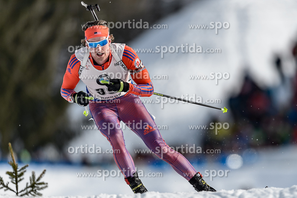 12.02.2017, Biathlonarena, Hochfilzen, AUT, IBU Weltmeisterschaften Biathlon, Hochfilzen 2017, Verfolgung Herren, im Bild Sean Doherty (USA) // Sean Doherty United States of  America during Mens pursuit of the IBU Biathlon World Championships at the Biathlonarena in Hochfilzen, Austria on 2017/02/12. EXPA Pictures © 2017, PhotoCredit: EXPA/ Stefan Adelsberger
