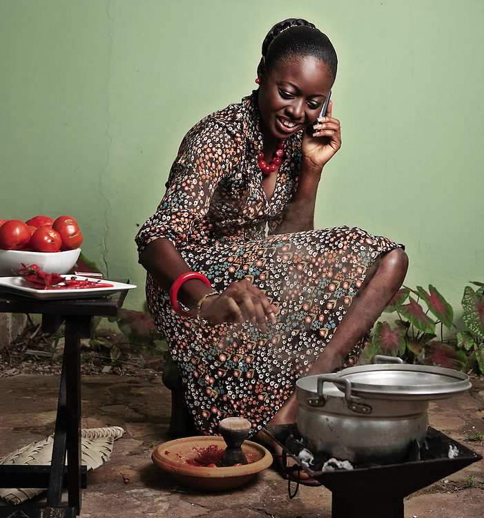 Cooking and Talking. Accra, Ghana